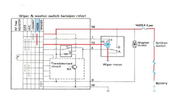 Wiper muharfan95 pada saat saklar wiper pada posisi high speed arus mengalir dari baterai terminal 18 wiper switch high point terminal 13 motor wiper hi asfbconference2016 Image collections